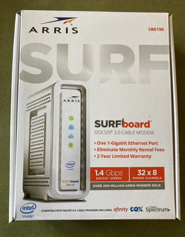 ARRIS SURFboard SB6190 Cable Modem GENTLY USED, WORKS FINE! $27