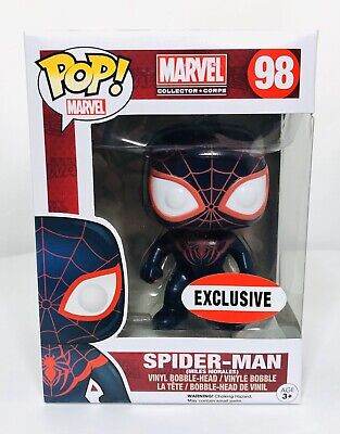 Funko Pop Marvel Spider-Man Miles Morales #98 Collector Corps Exclusive New!