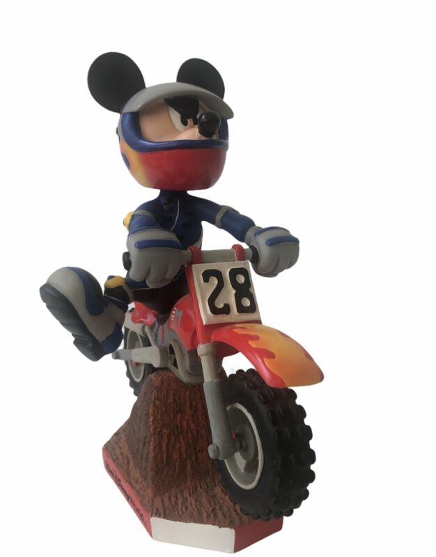Vintage Walt Disney World Mickey Mouse Dirt Bike Bobblehead Figure