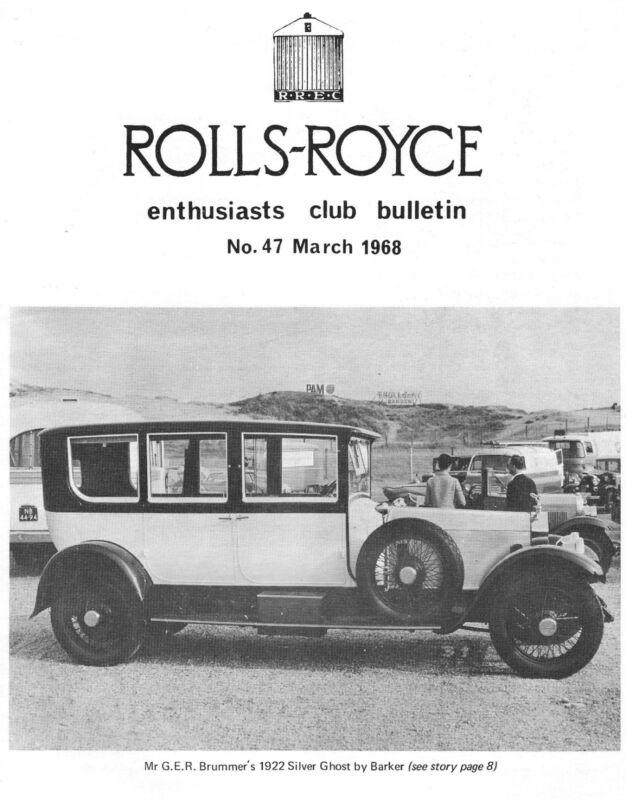 ROLLS-ROYCE (& BENTLEY) ENTHUSIASTS CLUB BULLETINS & ADVERTISERS 1968 to PRESENT