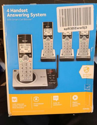 AT&T DECT 6.0 Expandable Cordless Phone Answering System Call Block 4 Handsets