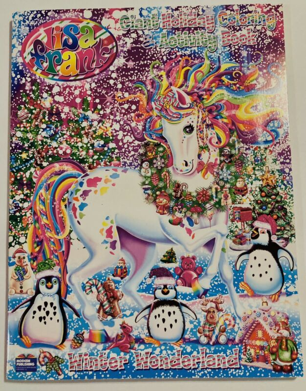 Lisa Frank Giant Holiday Coloring and Activity Book ~ Winter Wonderland