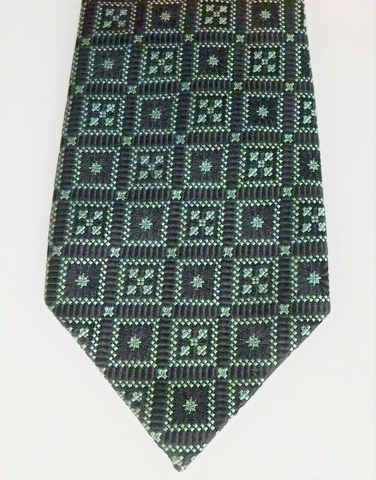 Hodgkinson Jermyn Street tie from English silk squares vintage 1960s black green