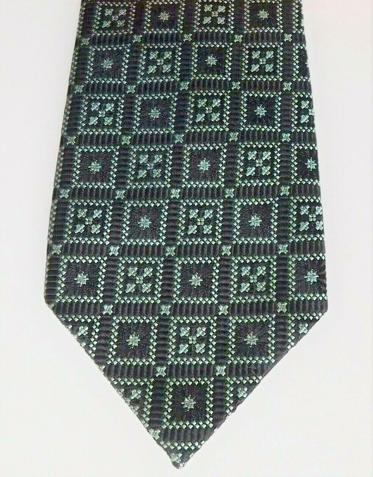 Hodgkinson Jermyn Street tie from English silk squares vintage 1960s black green