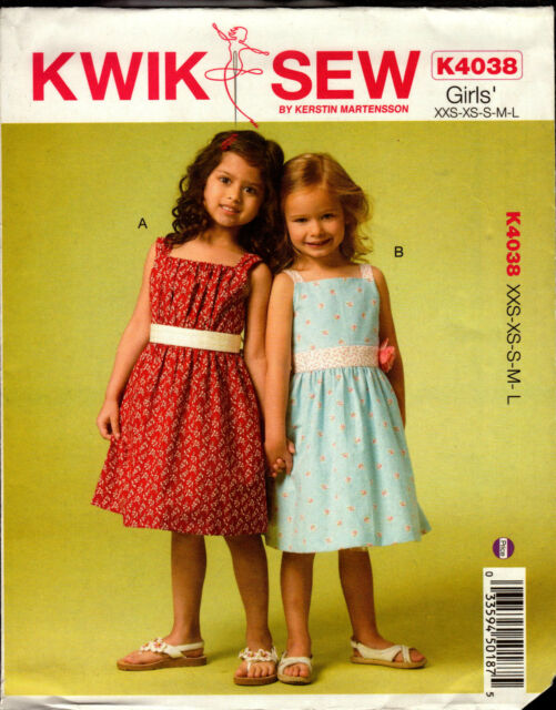 Kwik Sew Pattern K4038 4038 Girls Dresses