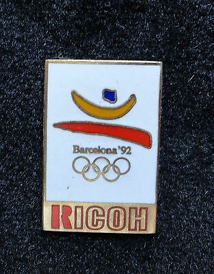 Htf Japanese Made Ricoh Imaging   Electronics Barcelona 1992 Olympic Lapel Pin