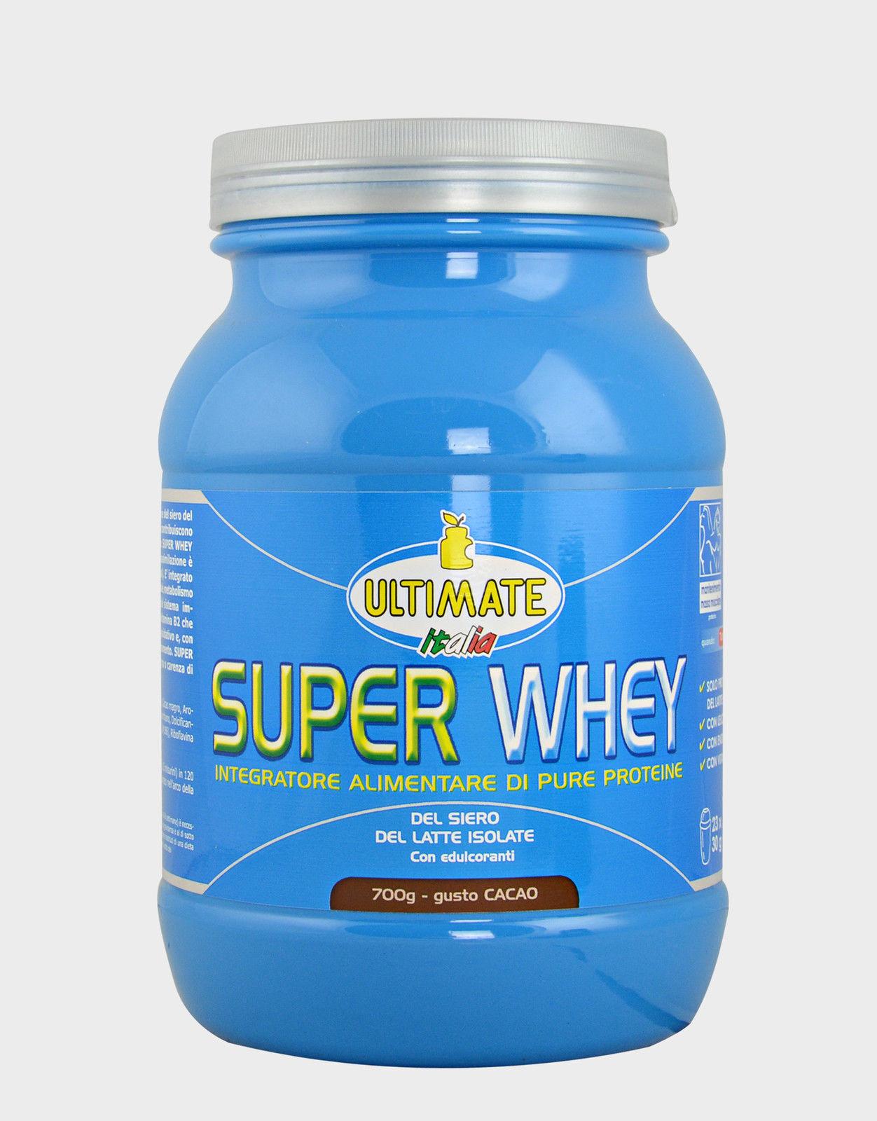 ULTIMATE ITALIA super whey Proteine Purissime Cioccolato Scuro 700g