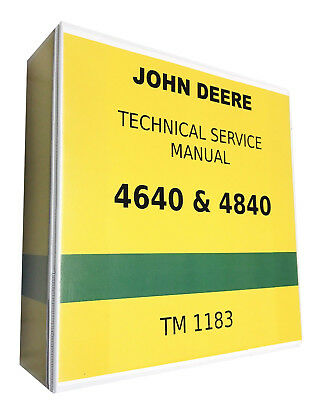 4640 John Deere Technical Service Shop Repair Manual 1151 Pages