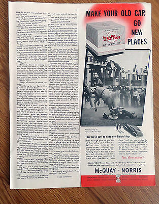 1949 McQuay-Norris Ad Leak-Proof Piston Ring Set  Photo Cheyenne Frontier Days