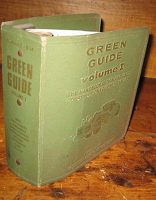 Vintage Construction Equipment Green Guide Value Manual In Abinder Vol 1 1977
