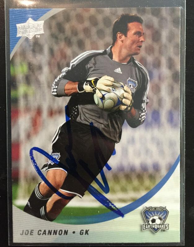 San Jose Earthquakes Joe Cannon Signed Autographed 2008 MLS UD Card