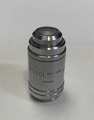 Leitz Pl Plan Apo 100x1.32 Oil Microscope Objective Lens 170mm