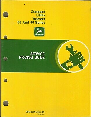 John Deere Compact Utility Tractors 55 And 56 Series Spg-1024 Pricing Guide