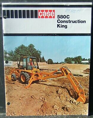 Case 580c Construction King Backhoefrontloader Sales Promotion Catalog 1970s