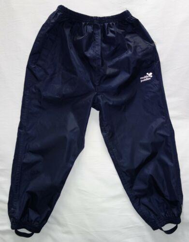 MUDDY PUDDLES navy blue waterproof trousers 5-6years