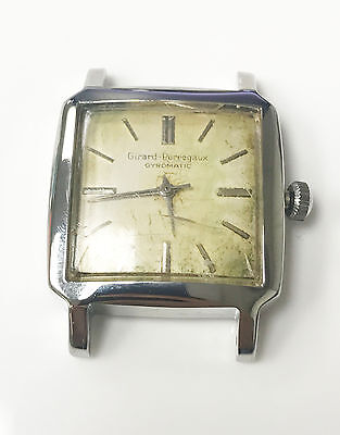 Girard Perregaux 17 Jewels Gyromatic Silver No Band Stainless Steel Back Watch