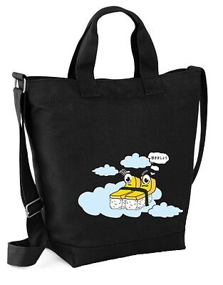 Japan Sushi Tamagoyaki 'Let's Roll it' Unisex Cotton Canvas Daily Carriage Bag  - Let It Roll Sushi