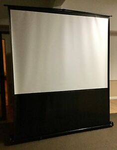 Da-Lite portable projection screen in hard case and zip cover. Newstead Brisbane North East Preview