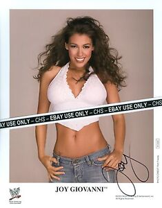 JOY-GIOVANNI-VERY-SEXY-SIGNED-COLOR-8x10-PHOTO-WWE-WRESTLING-DIVA