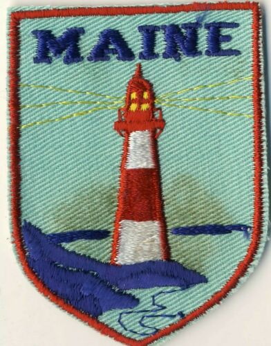 "ME Maine Lighthouse Souvenir Tourist Backpack 2.75"" Patch"