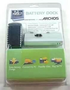 New ARCHOS BATTERY DOCK 500977 for 405 & 605 WiFi Battery + TV USB Connections