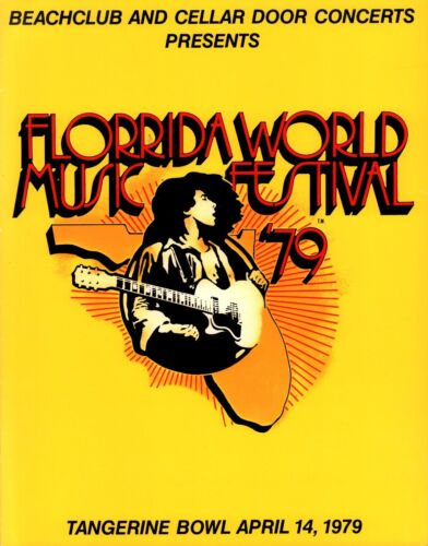 AEROSMITH / CHEAP TRICK 1979 FLORIDA WORLD MUSIC FESTIVAL PROGRAM / NMT 2 MINT
