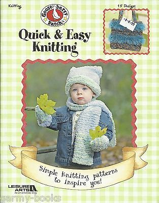 Easy Sock Knitting Patterns - Quick & Easy Knitting Gooseberry Patch Patterns Book Coat Hat Sock Scarf LA 3670