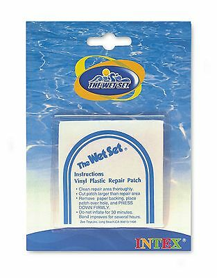 Vinyl Repair Patch Stick On for Inflatables Pools Wet Set - 6 Patches Included