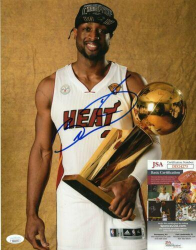 Dwyane Wade Signed 11x14 Photo w/ JSA COA #DD24275 Miami Heat