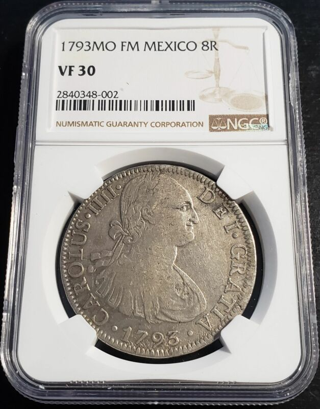1793 Mexico Spanish Colony 8 Reales