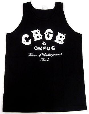 CBGB OMFUG Tank Top T-shirt Punk Rock CBs Underground Adult Mens S-2XL Black New - Adult Punk