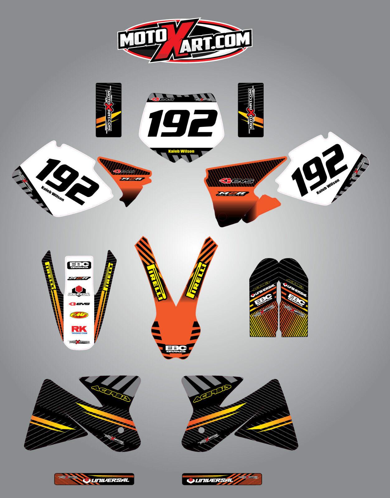 300-450 Full Custom Graphic Kit Neon Style TM 125-250 2008 2013