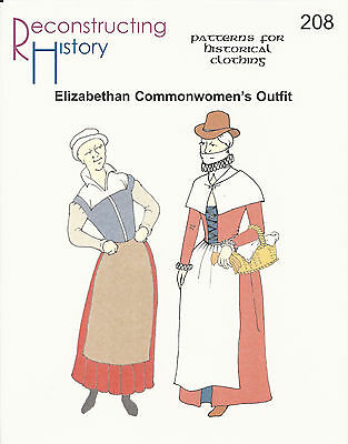Schnittmuster RH 208: Elizabethan Common Women's Outfit (Elizabethan Outfit)
