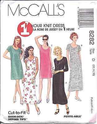 Mccalls Knitting Patterns - 8282 UNCUT Vintage McCalls Pattern Misses 1 Hour Knit Dress SEWING OOP Summer