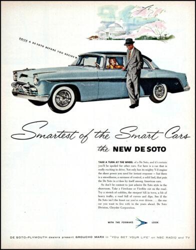 1955 De Soto Car The Smart car Groucho Marx sponsor vintage art print ad L16