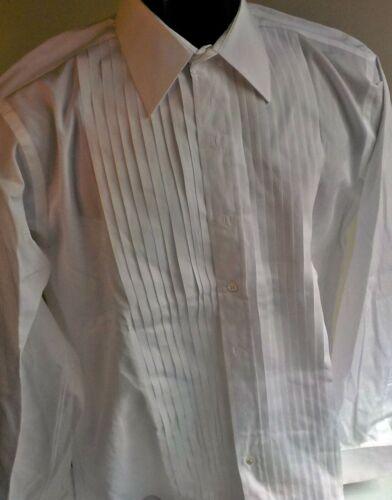 BROOKS BROTHERS  Bib Spread Collar White Tuxedo Shirt 16-36 French Cuffs