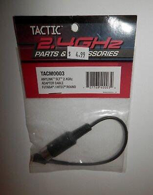 Tactic Anylink SLT 2.4GHz Adapter Cable - Futaba / Hitec Round #TACM0003 NIP