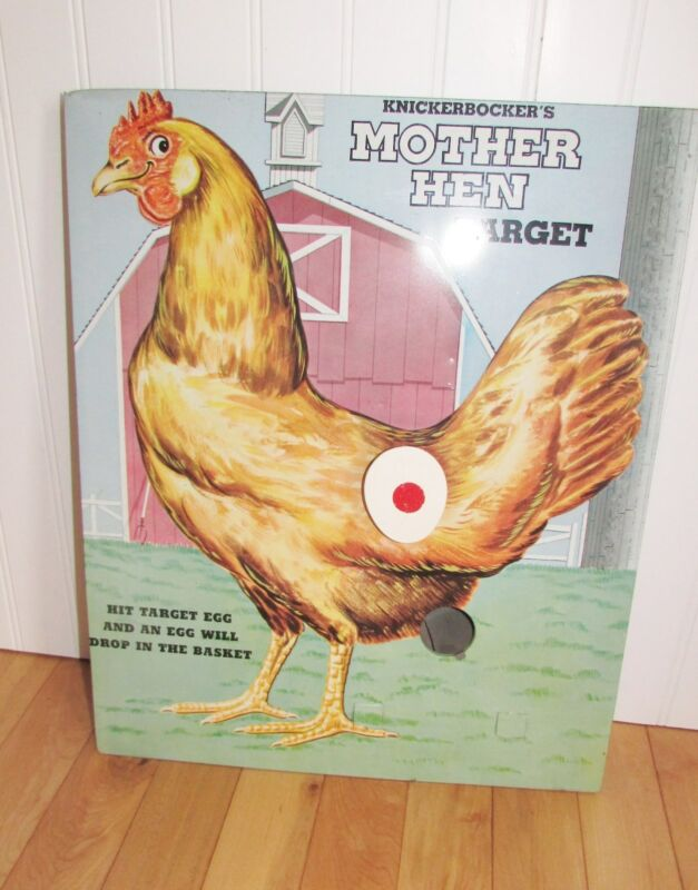 VINTAGE MOTHER HEN TARGET GAME Chicken/Hen/Rooster Poultry