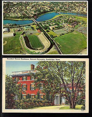 6 Harvard University Postcards Cambridge MA