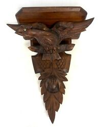 Antique Carved Black Forest Eagle Clock / Wall Bracket / Shelf PAIR AVAILABLE 28