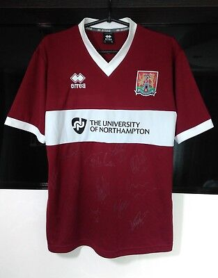 Northampton Town home football shirt 2013 - 2014 with autographs size S Small  image