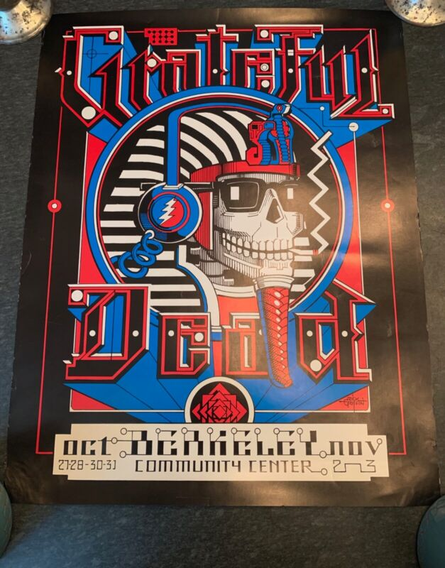 Rare Grateful Dead 1984 Berkeley Community Center Concert Poster, Rick Griffin