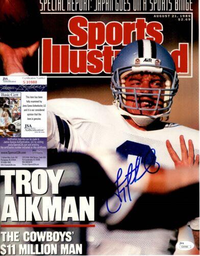 Troy Aikman Signed 11x14 Photo JSA COA #S30988 Dallas Cowboys Sports Illustrated