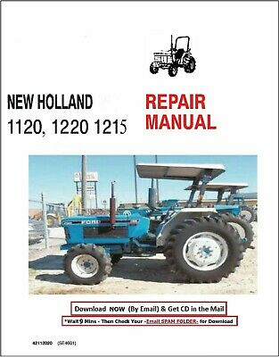 Ford 1120 1220 Tractor Factory Service Repair Manual Shop Book On Cd