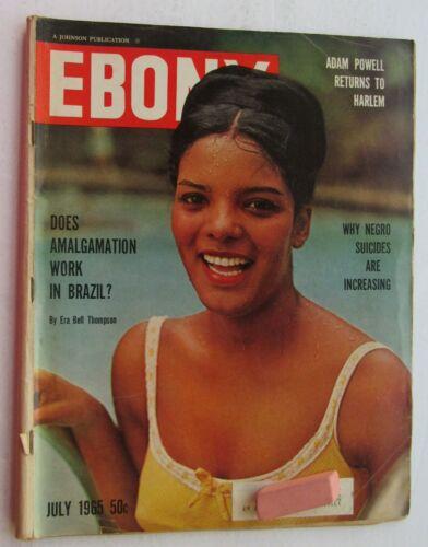 Ebony Magazine Jul. 65 Vera Lucia Couto  Santos Cover/Adam Powell Ret. To Harlem