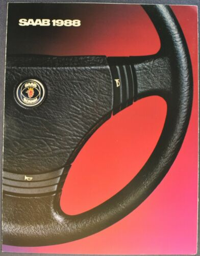 1988 Saab Brochure Folder 9000 S 900 Turbo Sedan Convertible Excellent Original