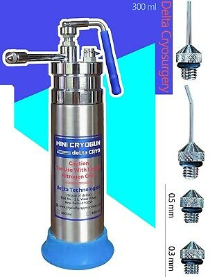 Delta Cryogenic Liquid Nitrogen Sprayer Freeze Treatment Tank 300ml Cryo Unit