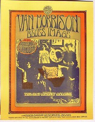 1970 Handbill: Van Morrison at Community Concourse, San Diego. Randy Tuten art.