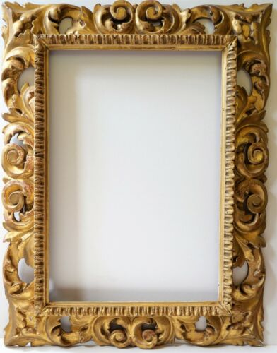 Frame,Italy,Baroque, Wood Golden, Carved, Painting, Xvii, Rome
