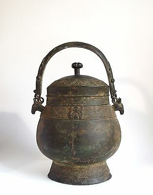 Fine antique Chinese Archaic bronze wine vessel